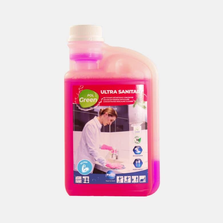 PolGreen Ultra sanitary nettoyant sanitaires écologique ultra concentré